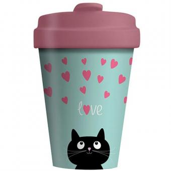 Coffee to go Becher Bamboo Kitty Love