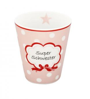 Becher Super Schwester rosa