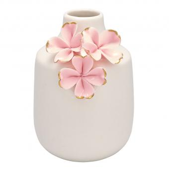 Vase Flower pale pink gold small