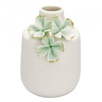 Vase Flower pale green gold small