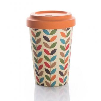 Coffee to go Becher Bamboo Bright Leaves
