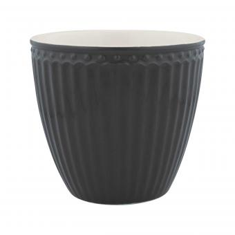 Latte Becher Alice dark grey
