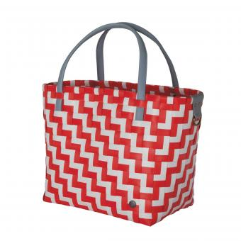 Shopper Waves coral red white