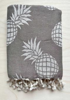 Handtuch Hamamtuch Ananas taupe