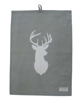 Geschirrtuch White Deer on Grey