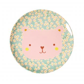 Rice Melaminteller Animal Print - Bear