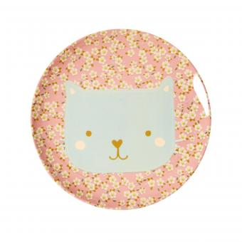 Rice Melaminteller Animal Print - Cat