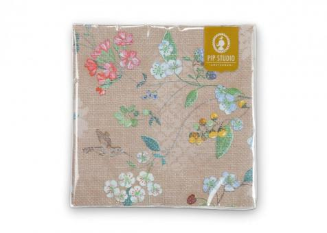 Papierservietten Hummingbirds khaki