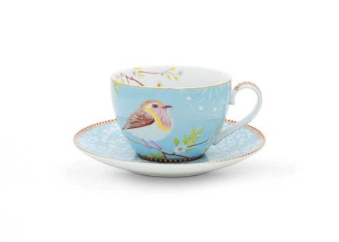 Pip Studio Cappuccino Tasse Early Bird blue