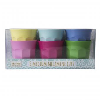 Melamin Becher Classic Colours  6er-Set medium