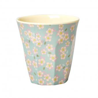 Melaminbecher Small Flower blau
