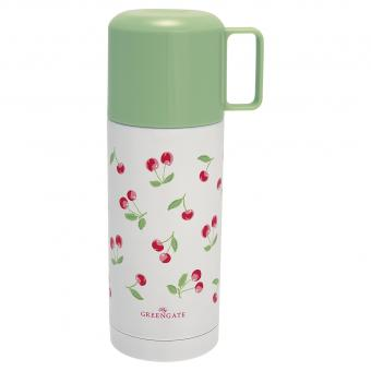 Greengate Thermosflasche cherry white 350ml