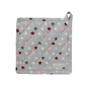 Topflappen Small Star multi grau